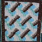 Miniature Third Place Made by: Tonya Detten, Panhandle, TX Quilted by: Tonya Detten Ocean View